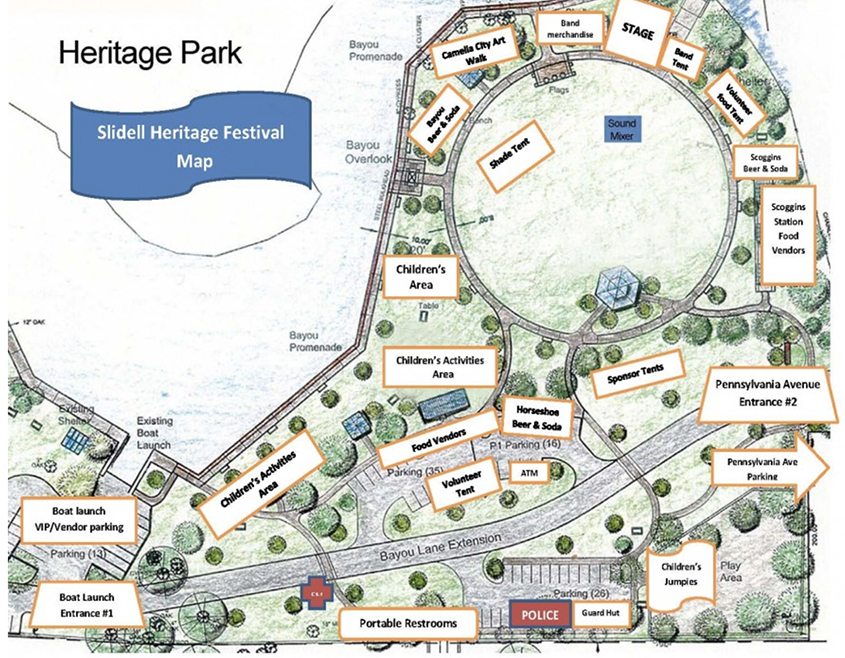 Heritage Festival Map